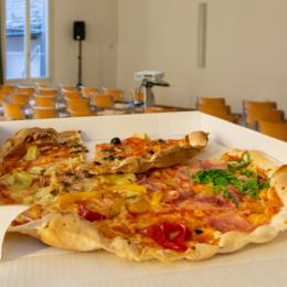 Pizza vor dem Start